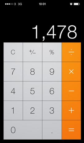 Calculadora com design flat