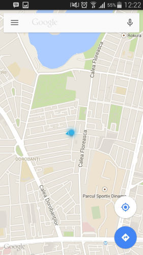 Interface do google maps no Android