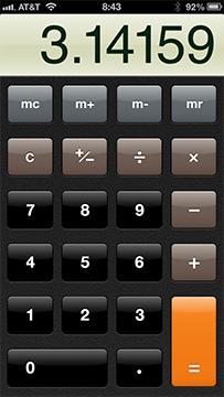 Calculadora em design Skeuomorphic