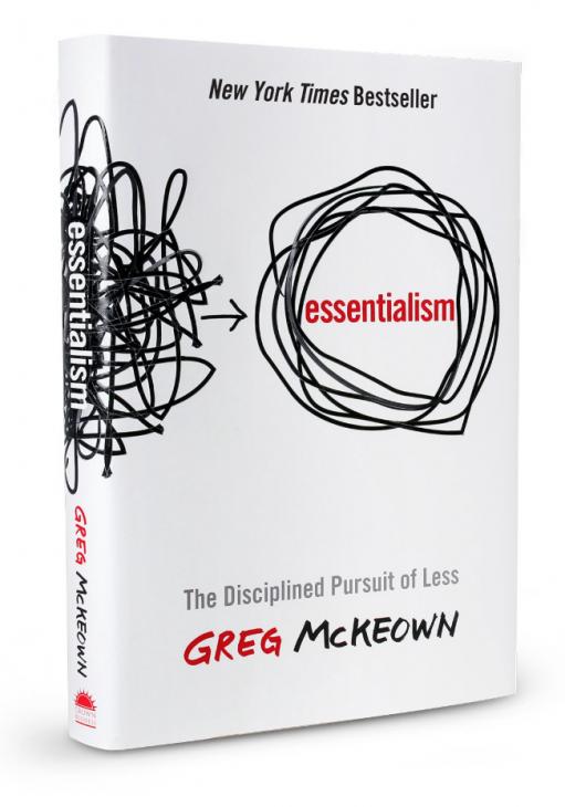 Capa do livro Essencialismo. Aprenda a fazer menos mas melhor