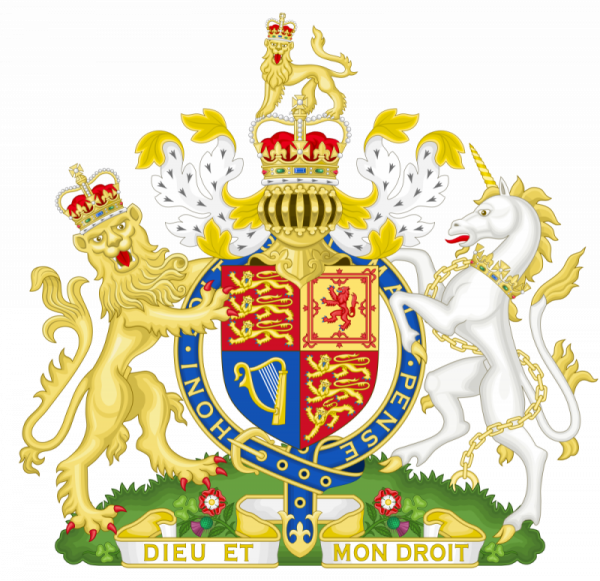 Brasão oficial do Reino Unido